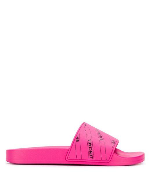 Balenciaga プール スライド サンダル Pink