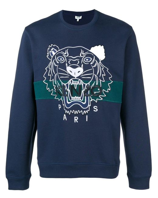 メンズ KENZO Tiger スウェットシャツ Blue