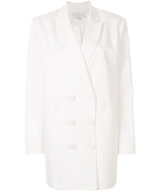 Michelle Mason ダブルジャケットドレス White