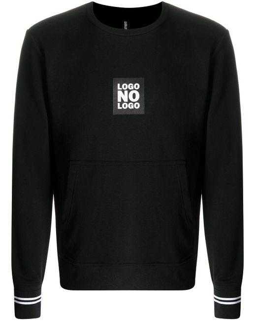 メンズ Neil Barrett スローガンパッチ スウェットシャツ Black