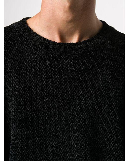 メンズ Laneus チャンキーニット セーター Black