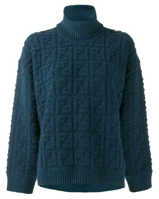 Fendi Ff モチーフ セーター Blue