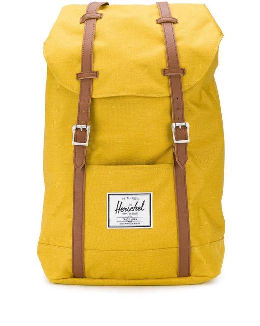 Herschel Supply Co. 'Retreat' Rucksack mit Kontrastriemen in Yellow für Herren