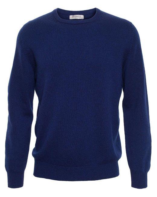 メンズ Browns クルーネックセーター Blue