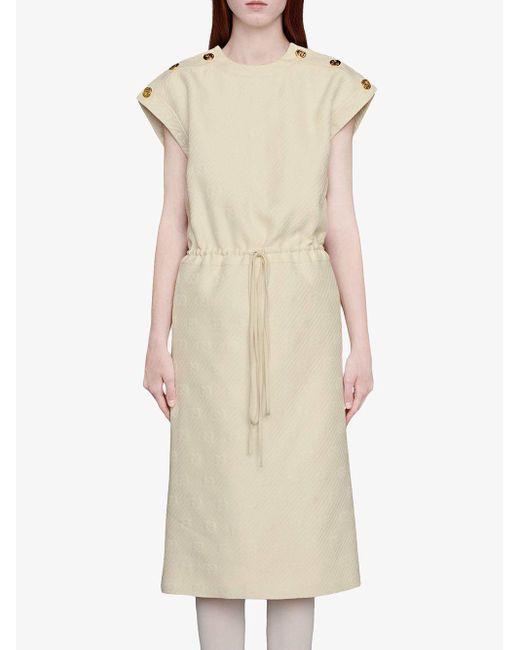 Gucci Diagonal GGストライプ ドレス Natural
