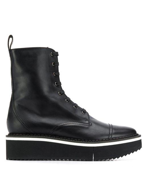 Clergerie プラットフォーム ブーツ Black