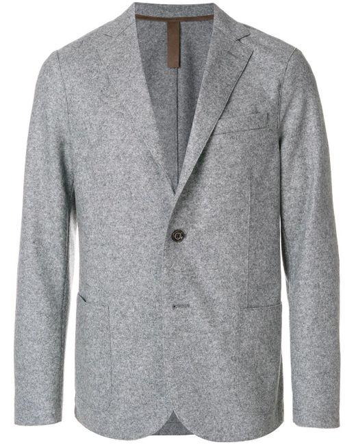 Eleventy Gray Patch Pocket Blazer for men