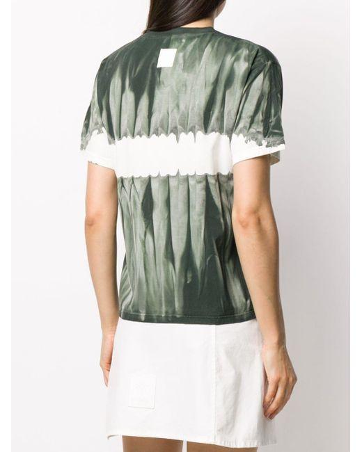 Mr & Mrs Italy タイダイ カラーブロック Tシャツ Green