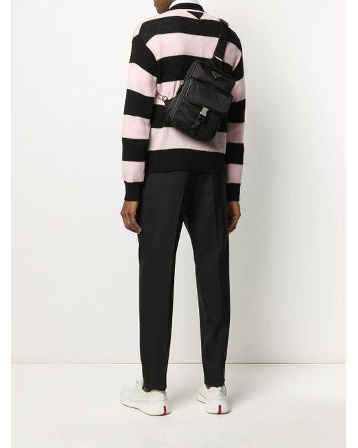 Sac à bandoulière à poches multiples Prada pour homme en coloris Black