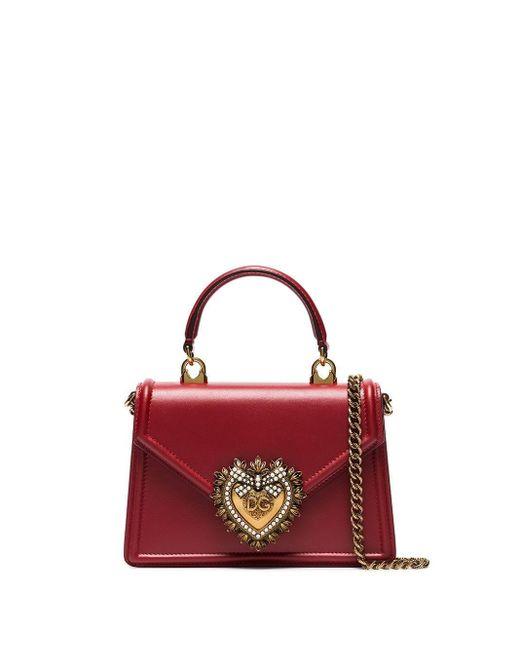 Dolce & Gabbana Red Medium Devotion Bag