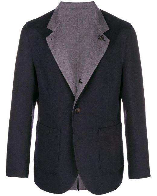 メンズ Brunello Cucinelli ノッチドラペル ジャケット Blue