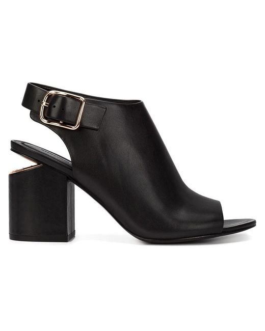 Alexander Wang - Natural Nadia Leather Gold-Cutout Ankle Boots - Lyst
