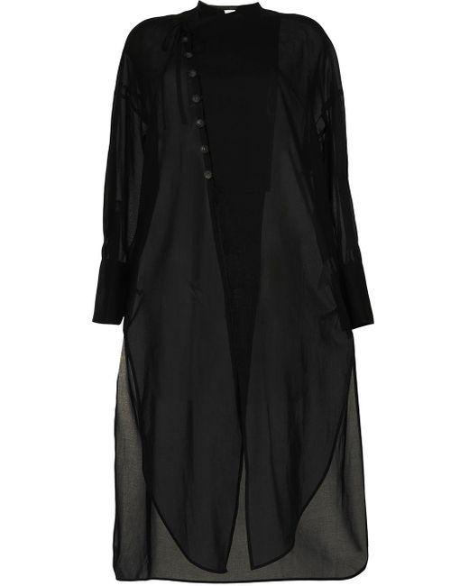 Enfold マンダリンカラー ドレス Black