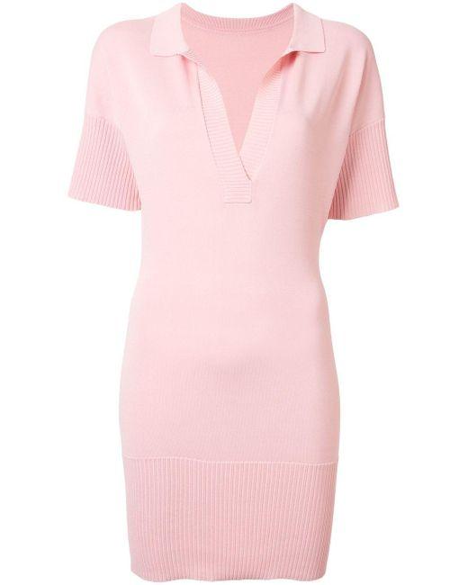Manning Cartell リブディテール Vネックドレス Pink
