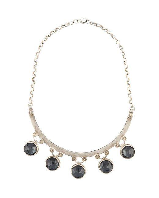 Marlo Laz | Gray 'gypsy' Necklace | Lyst