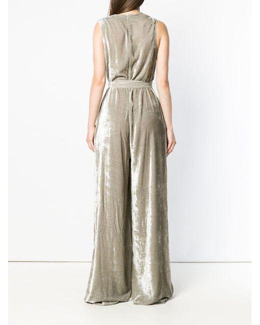 Комбинезон С Глубоким Вырезом Bottega Veneta, цвет: Gray