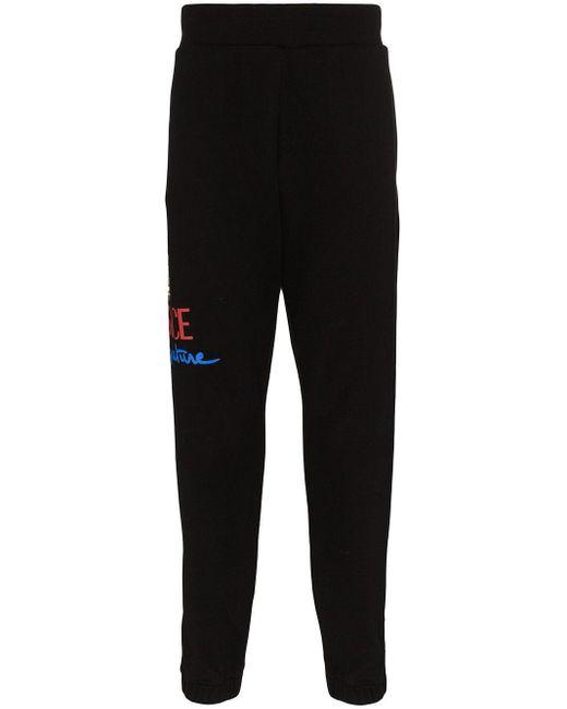Спортивные Брюки С Логотипом Versace для него, цвет: Black