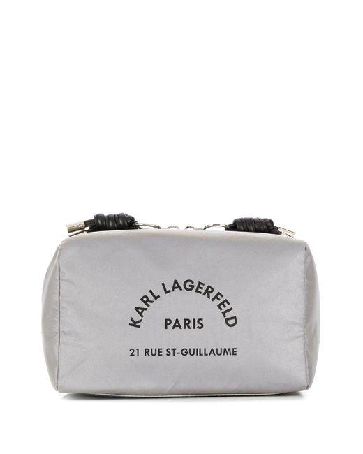 Karl Lagerfeld Rue St Guillaume コスメポーチ Gray