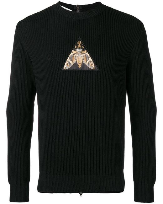 Givenchy - Black Patch Zipped Back Sweatshirt for Men - Lyst