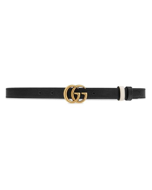 Gucci White GG Buckle Belt