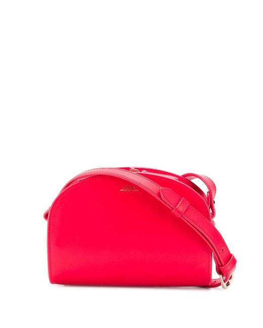 A.P.C. Pink Half-moon Shoulder Bag