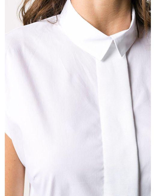 Peserico White Kurzärmeliges Hemd