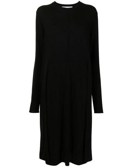 PROENZA SCHOULER WHITE LABEL フロントタイ ドレス Black