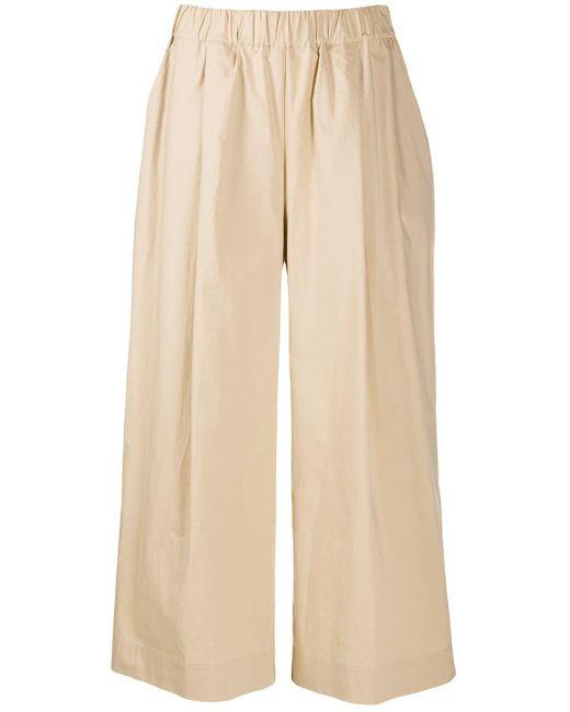 P.A.R.O.S.H. Pantalones capri de talle bajo de mujer de color neutro