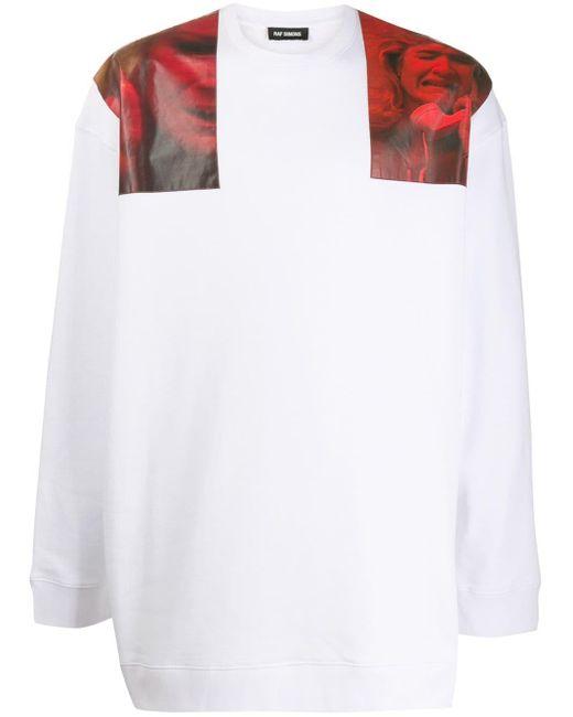 メンズ Raf Simons グラフィック スウェットシャツ White
