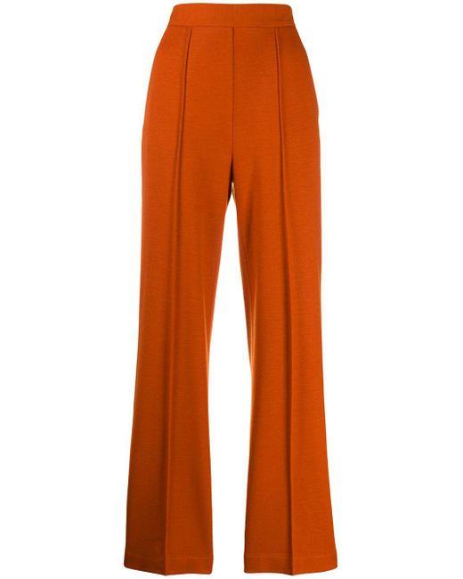 Harris Wharf London フレアパンツ Orange