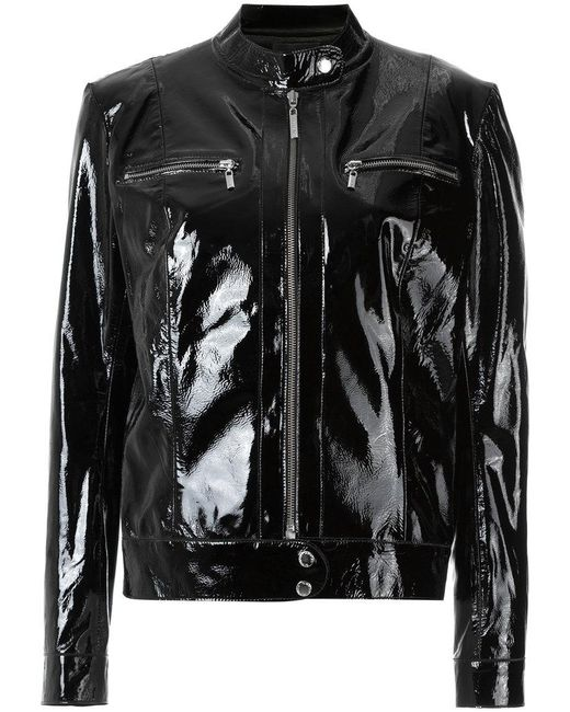 Olympiah | Black Patent Leather Jacket | Lyst