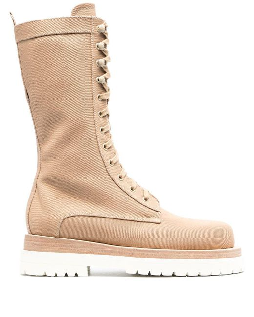 Magda Butrym Natural Lace-up Boots