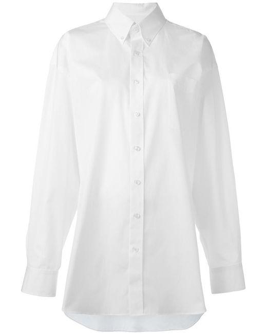 Maison Margiela | White Oversize Long Sleeve Shirt | Lyst