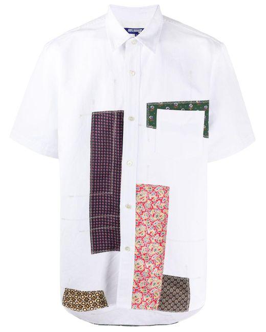 メンズ Junya Watanabe ホワイト マルチ パッチワーク シャツ White