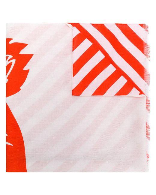 KENZO - Orange Tiger Print Scarf - Lyst
