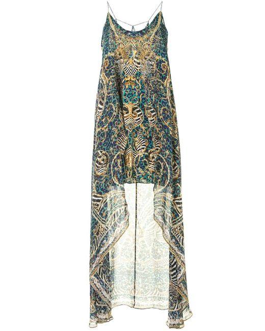 Camilla アニマルプリント ドレス Blue