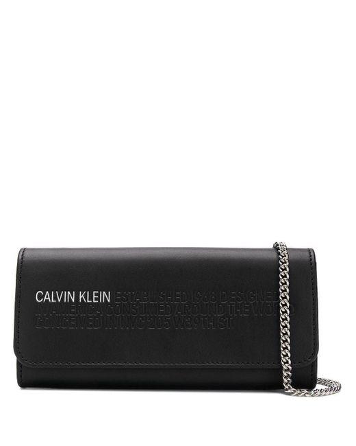 CALVIN KLEIN 205W39NYC チェーンウォレット Black
