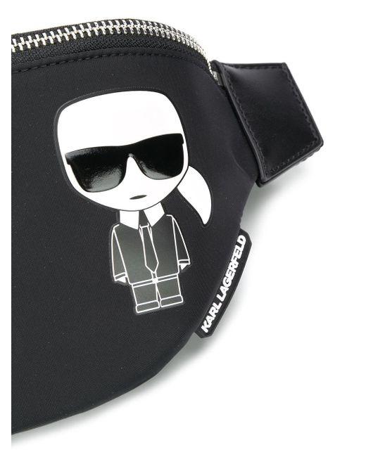 Karl Lagerfeld Ikonik Karl ベルトバッグ Black