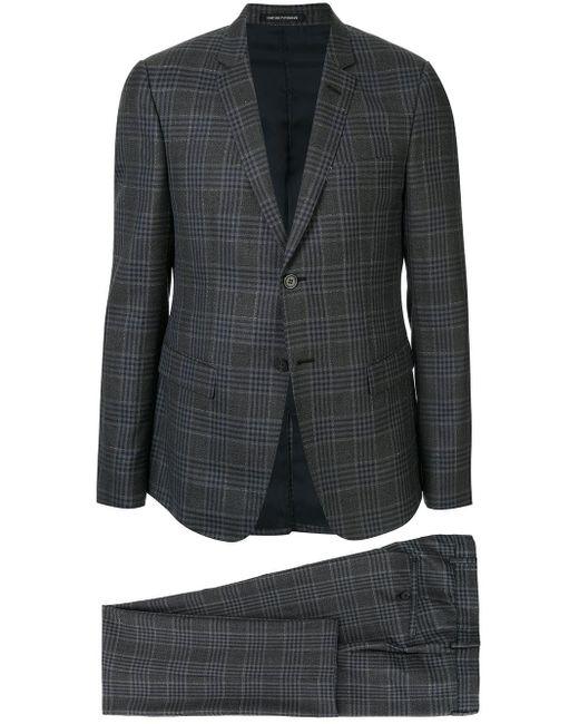 メンズ Emporio Armani ツーピース スーツ Gray