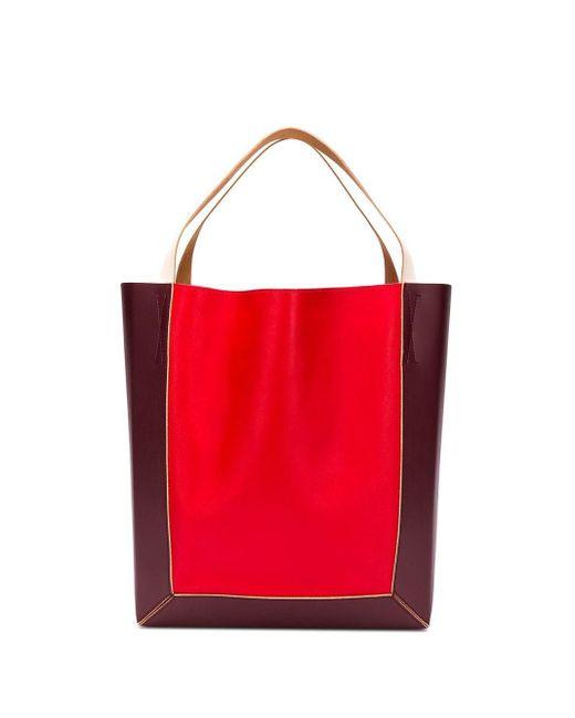 Marni ショッパー トートバッグ Red