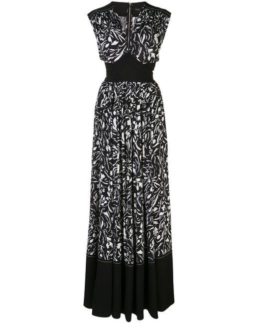 Платье Макси С Цветочным Принтом Proenza Schouler, цвет: Black