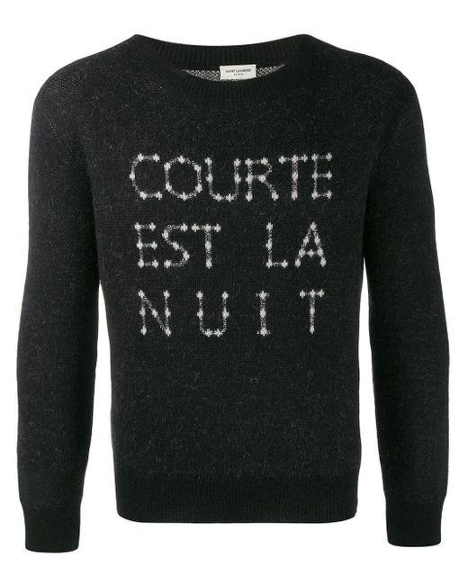 メンズ Saint Laurent クルーネック セーター Gray