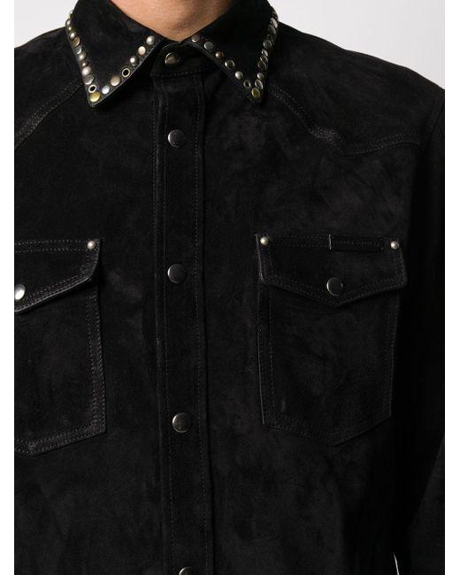 メンズ Golden Goose Deluxe Brand スタッズ シャツジャケット Black