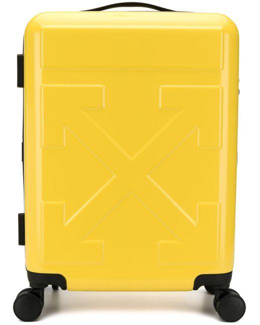 Off-White c/o Virgil Abloh ロゴ スーツケース Yellow