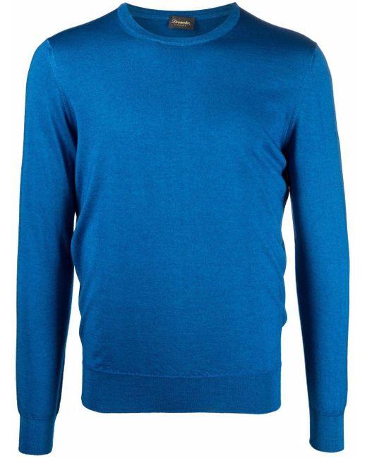 メンズ Drumohr クルーネック セーター Blue
