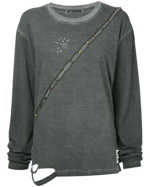Hyein Seo - Gray Slash Longsleeved T-shirt - Lyst