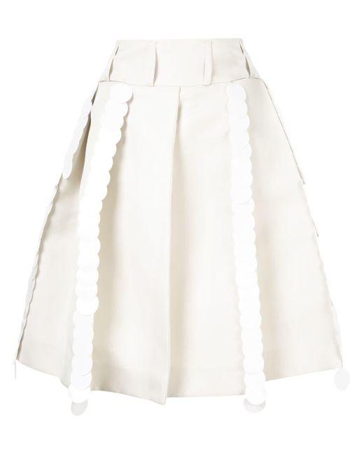 Marni Aライン プリーツスカート White