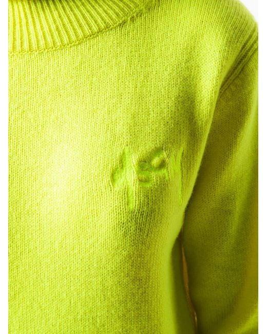 MSGM ロゴ プルオーバー Yellow