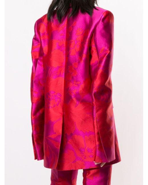 Carolina Herrera フローラル ジャケット Pink