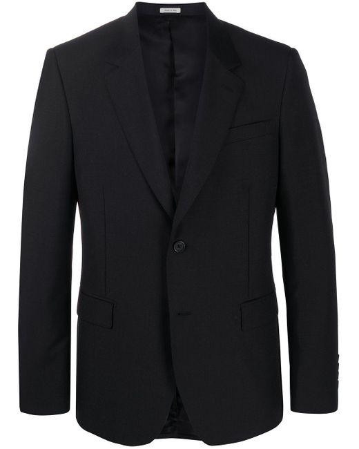 メンズ Alexander McQueen テーラードジャケット Black
